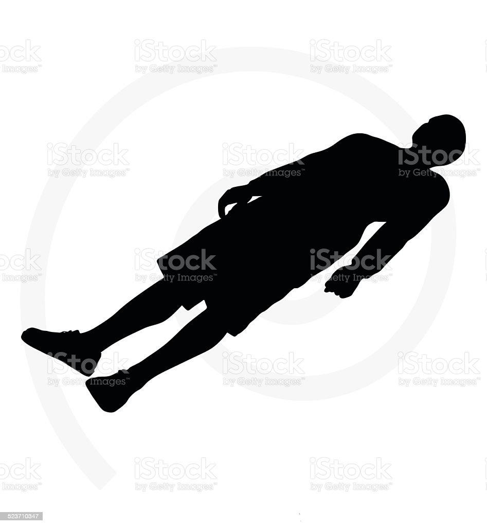 man silhouette vector art illustration