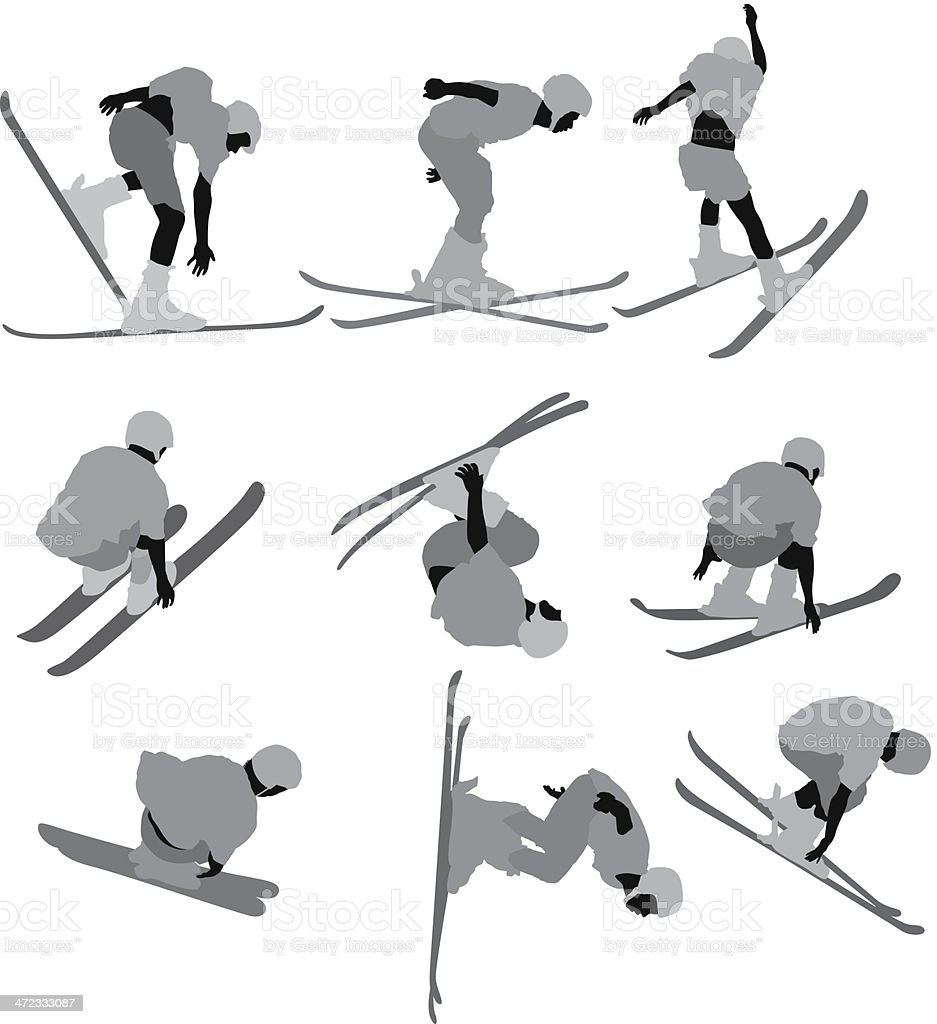 Man skiing royalty-free stock vector art