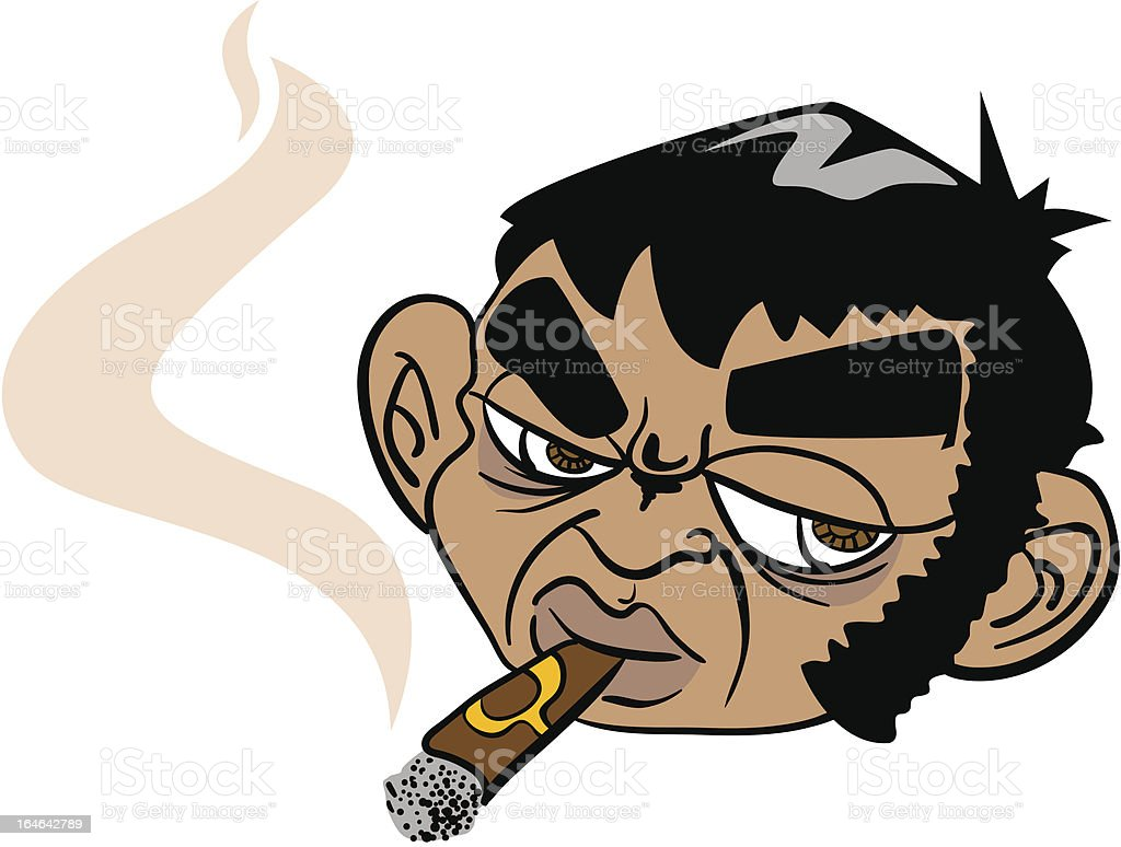 man smoking a cigar royalty-free stock vector art