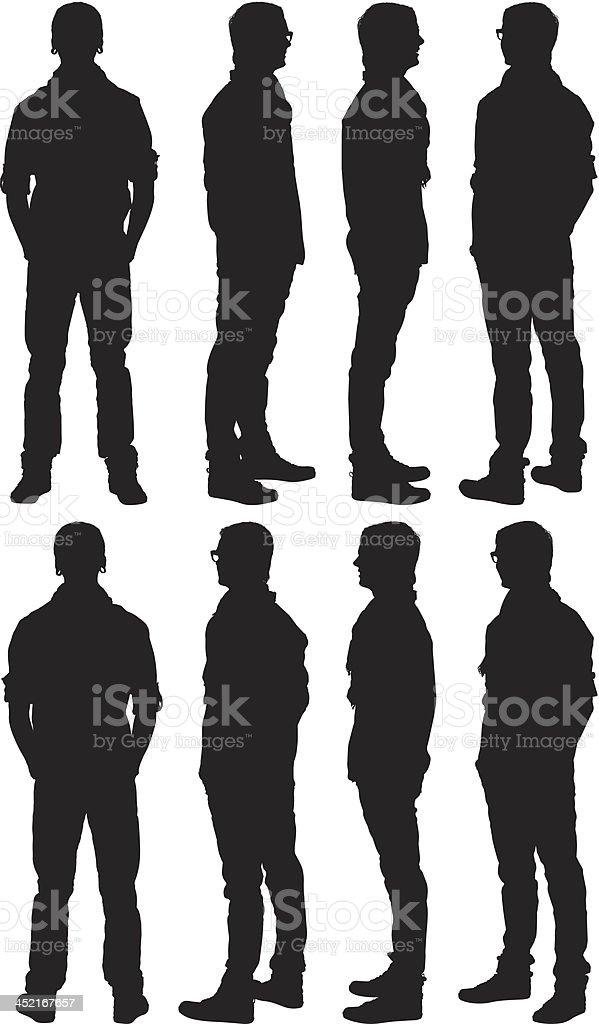 Man standing vector art illustration