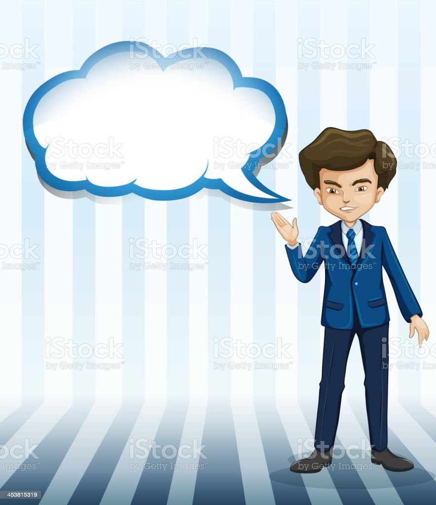 man standing with an empty callout royalty-free stock vector art