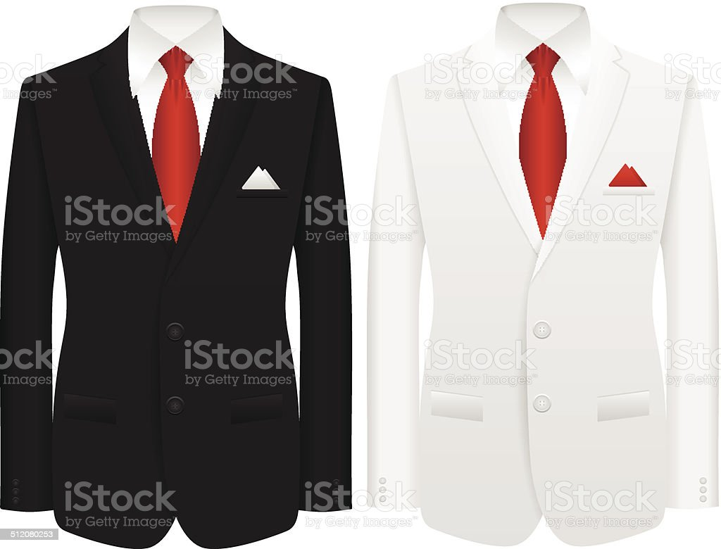 man suit vector art illustration