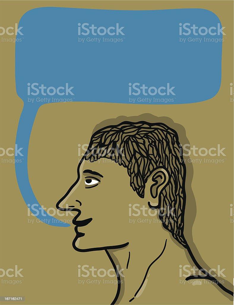 man talking text balloon royalty-free stock vector art