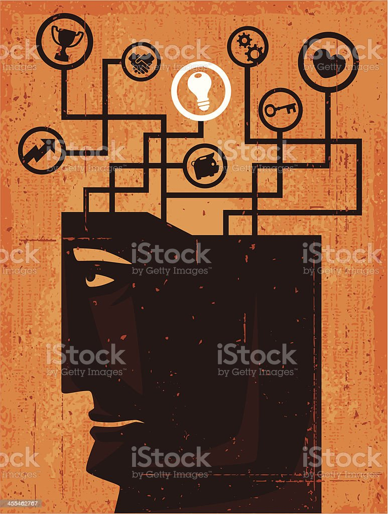 man thinking silhouette royalty-free stock vector art