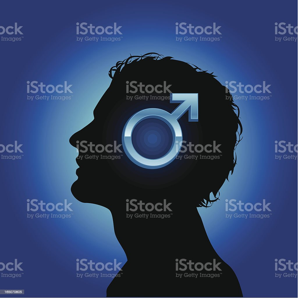 Man thoughts royalty-free stock vector art
