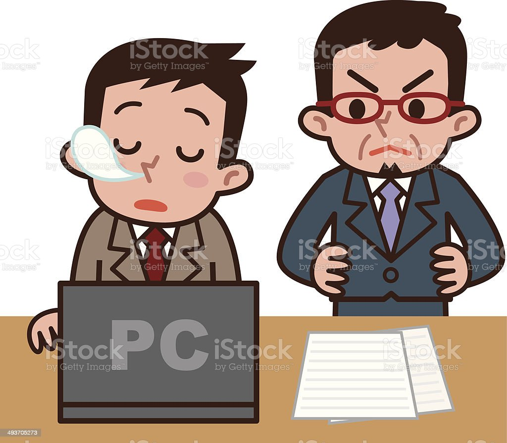 Man to snooze royalty-free stock vector art