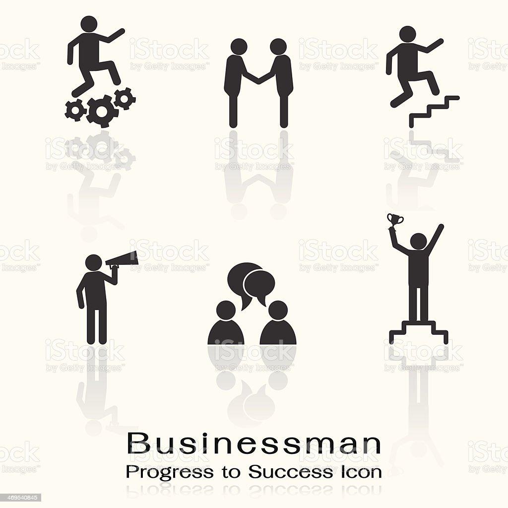 Man to success icon vector art illustration