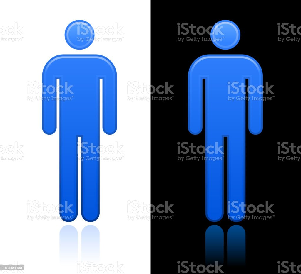 man Vector Icon design on black and white Backgrounds royalty-free stock vector art