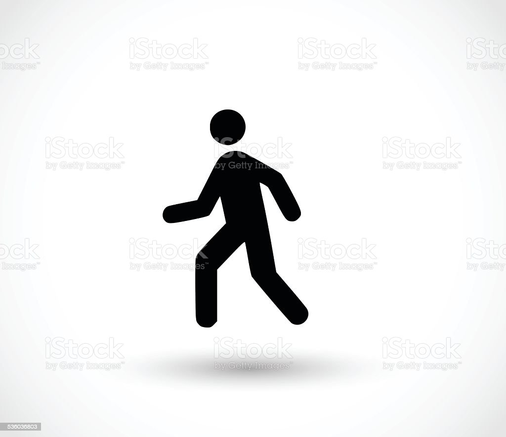 Man walk icon vector illustration vector art illustration