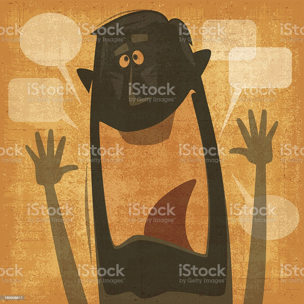 man waving silhouette royalty-free stock vector art