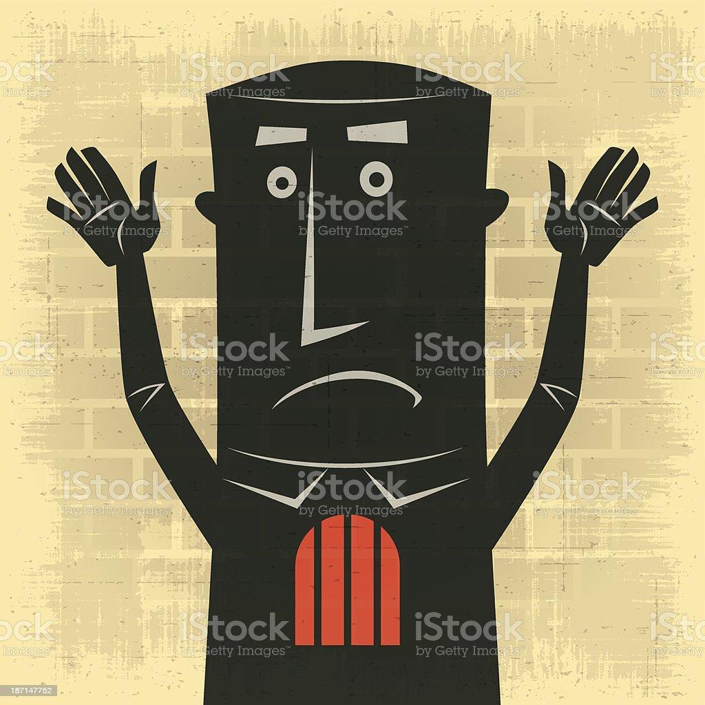 man waving silhouette royalty-free stock vector art
