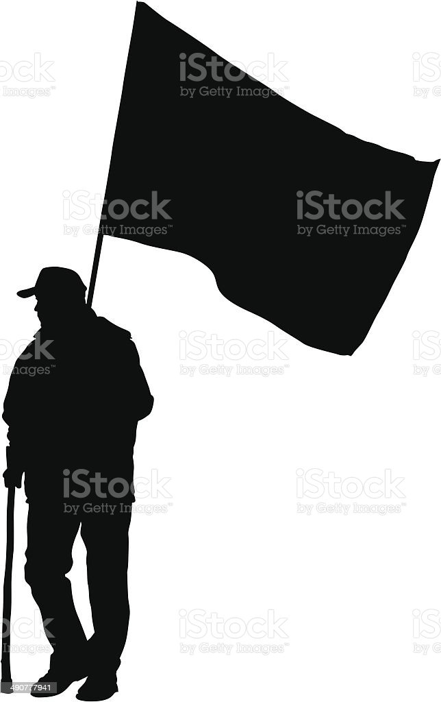 Man whit flags royalty-free stock vector art