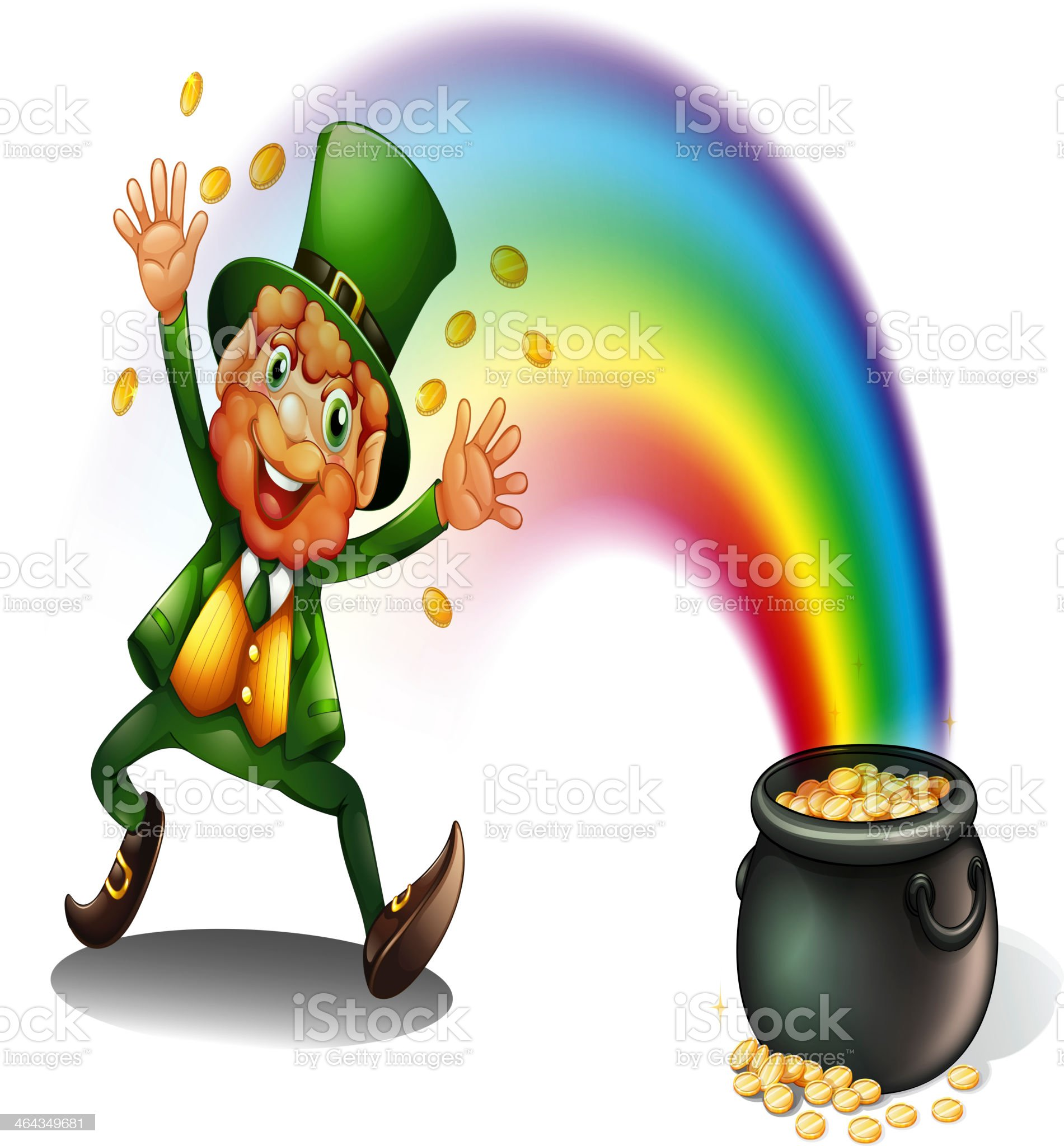 Man with a pot of golds royalty-free stock vector art
