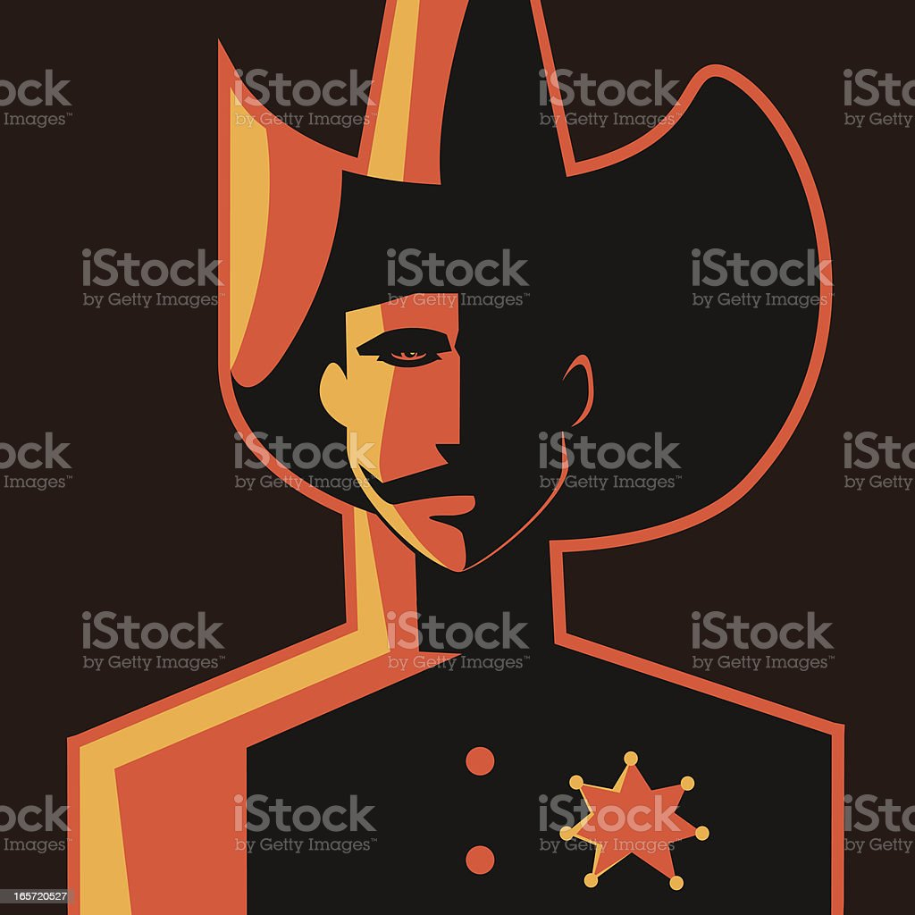 Man with a star royalty-free stock vector art