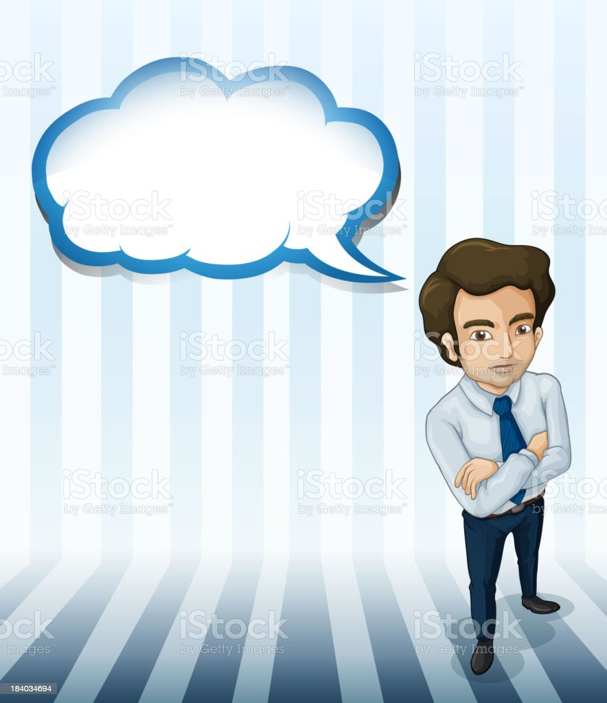 man with an empty callout royalty-free stock vector art