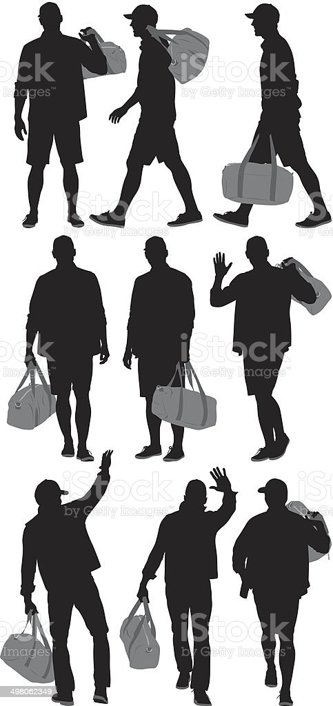Man with bag royalty-free stock vector art