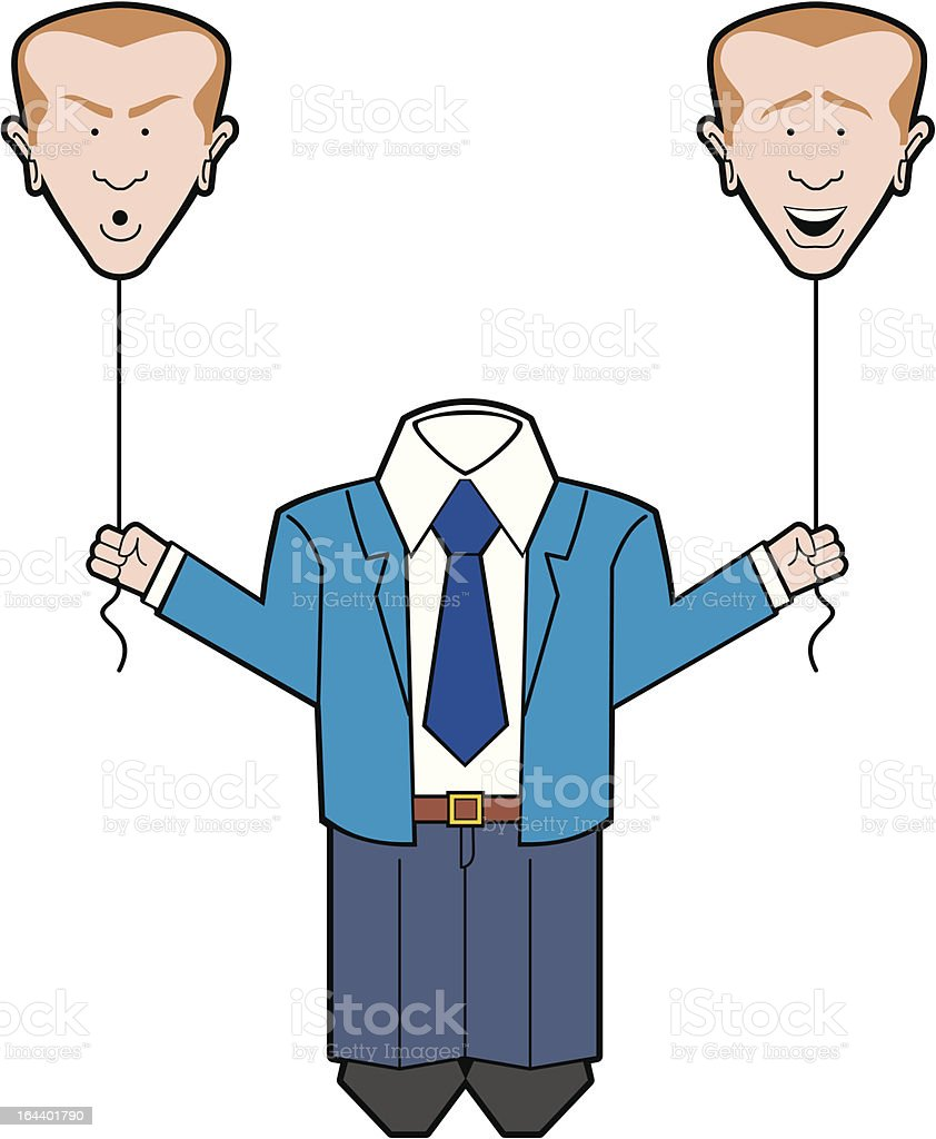 Man with ballon heads royalty-free stock vector art
