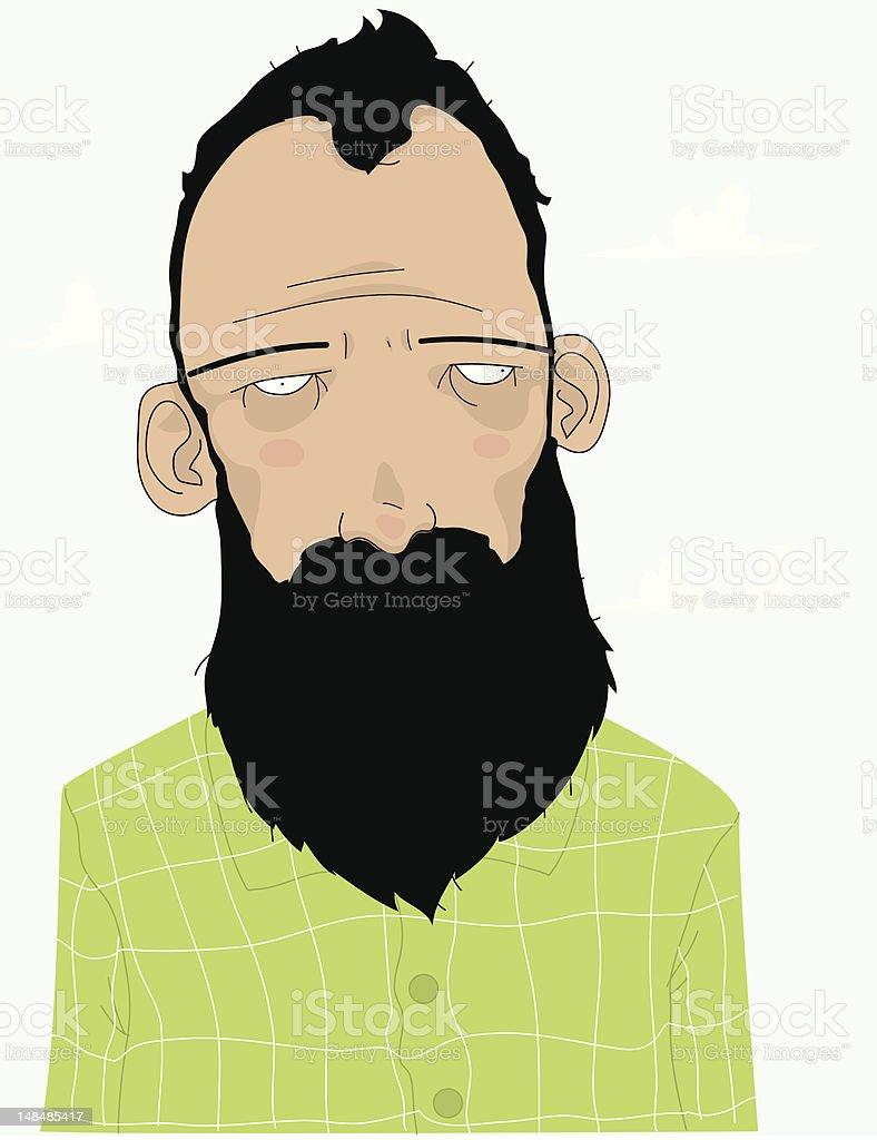 Man with Beard royalty-free stock vector art