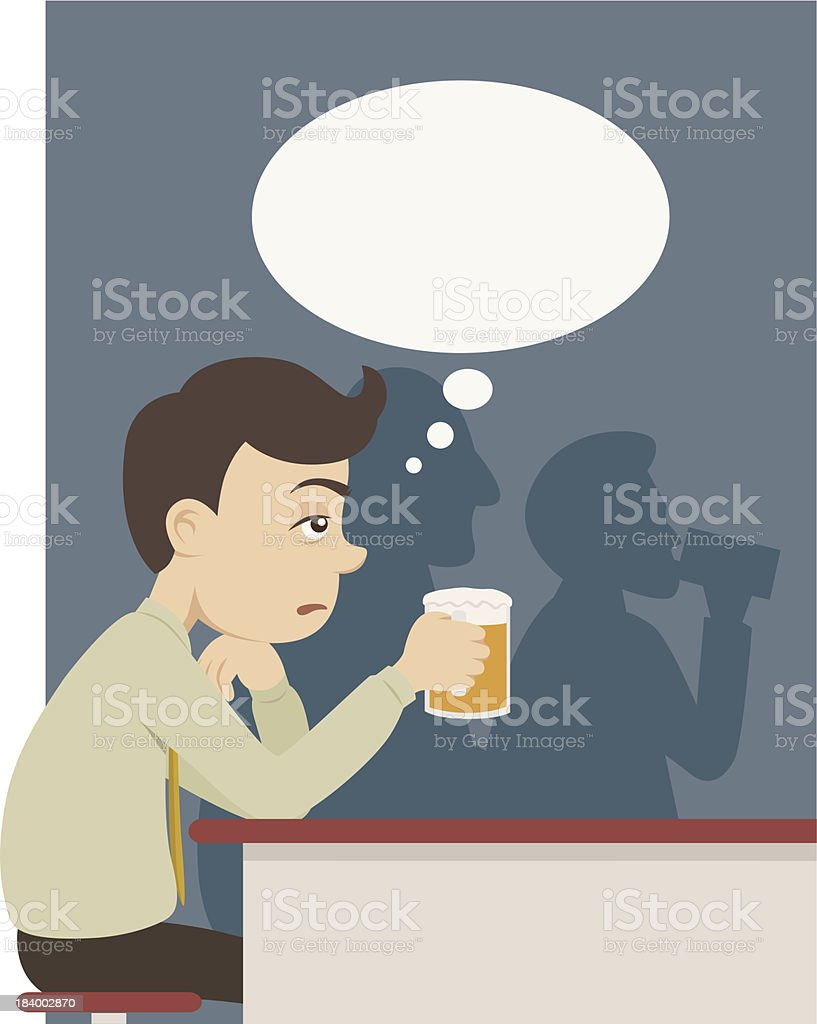 man with beer at pub royalty-free stock vector art
