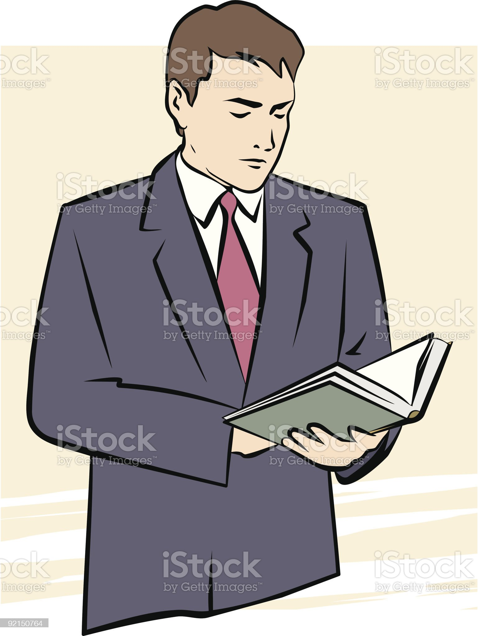 Man with Book royalty-free stock vector art