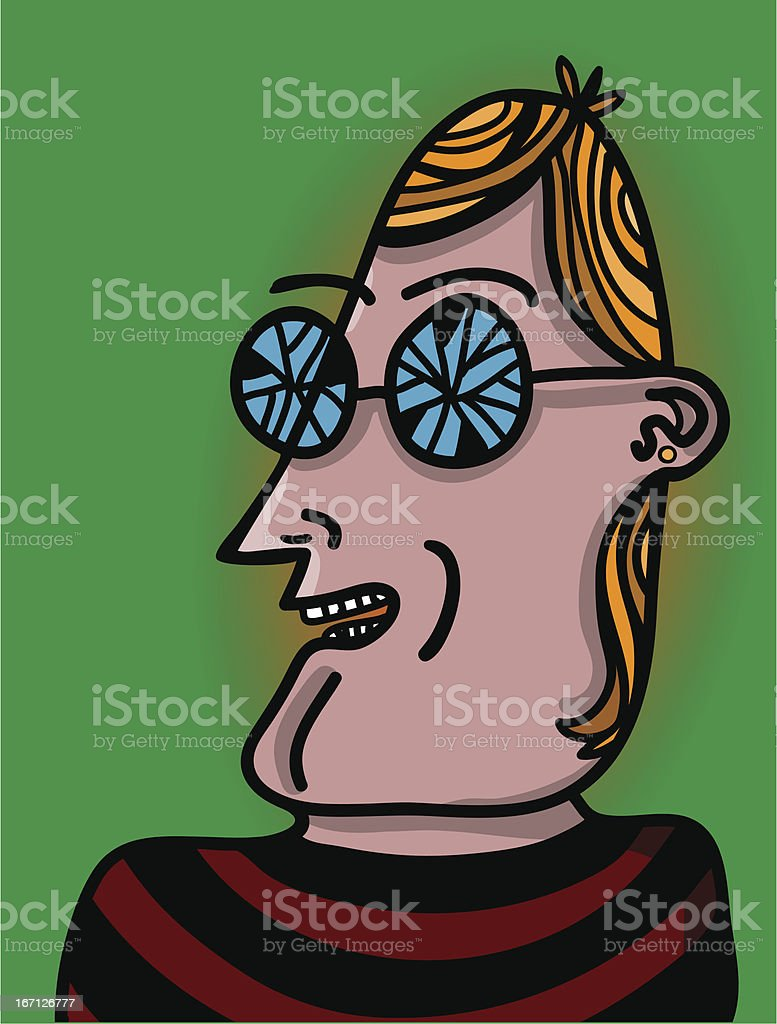 man with broken glasses royalty-free stock vector art