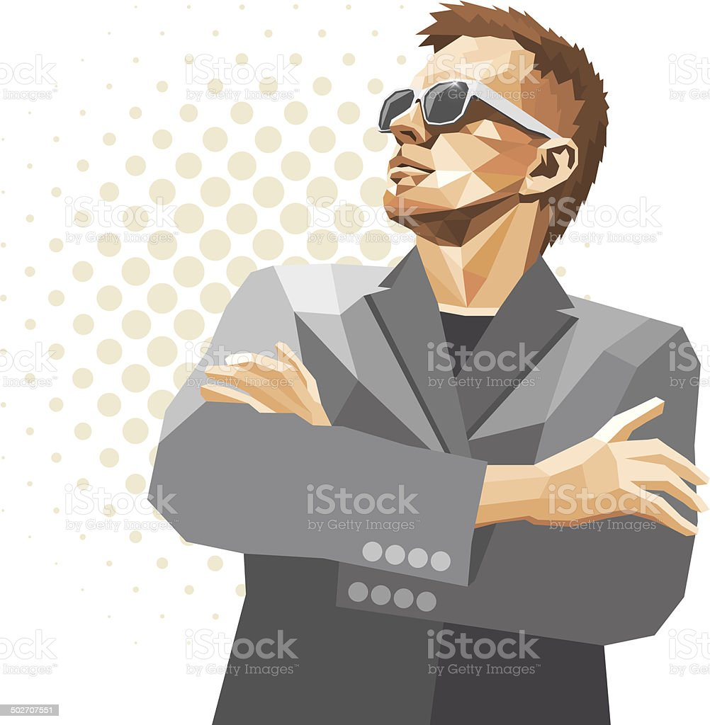 Man with glasses illustration vector art illustration