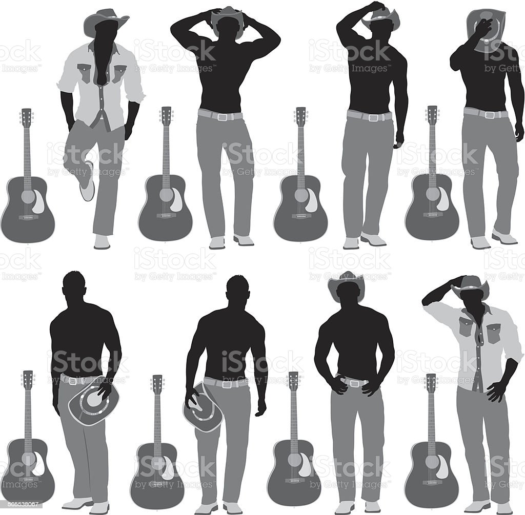Man with guitar royalty-free stock vector art