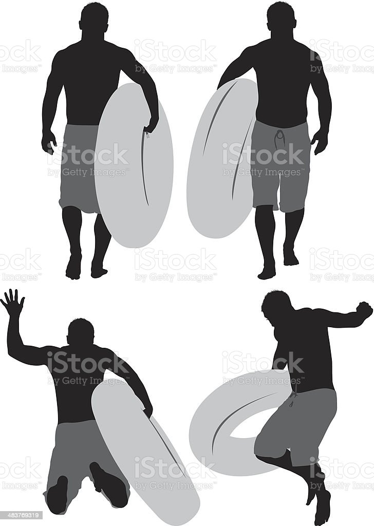 Man with inflatable ring royalty-free stock vector art