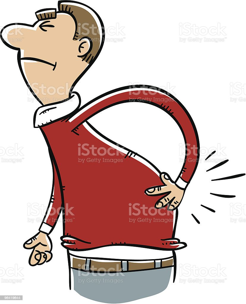 Man With Lower Back Pain royalty-free stock vector art