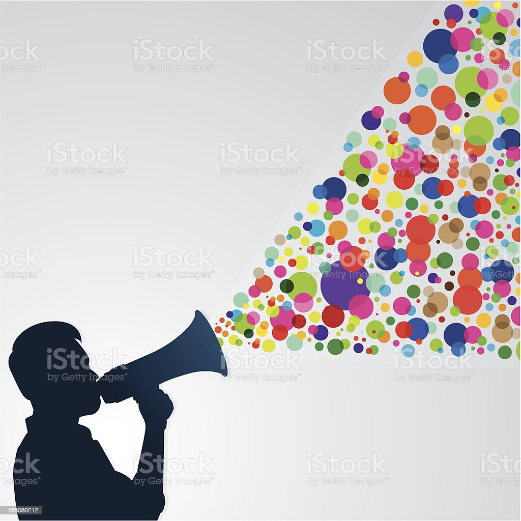 Man with megaphone royalty-free stock vector art