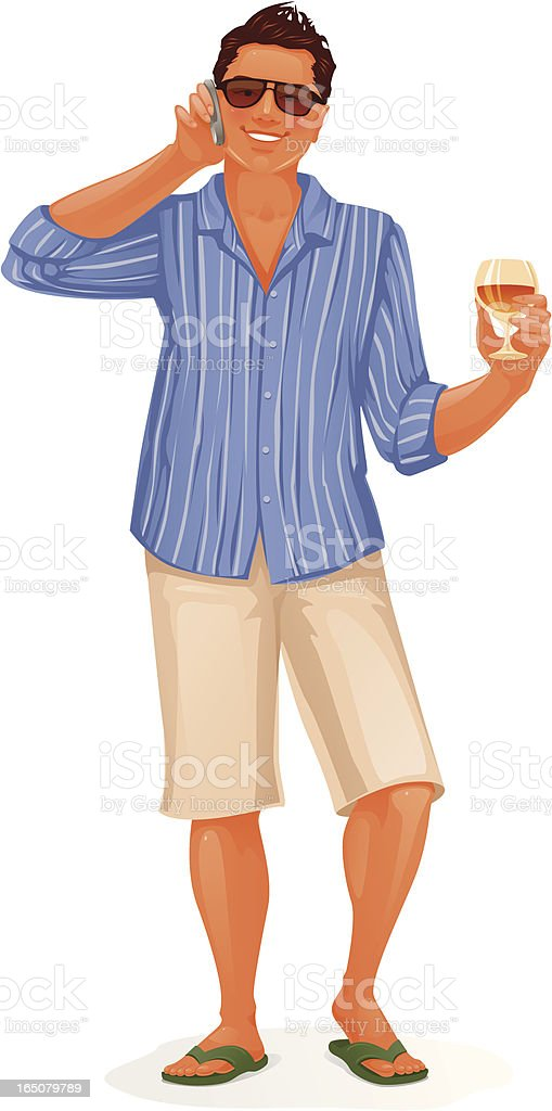 Man with mobile phone royalty-free stock vector art