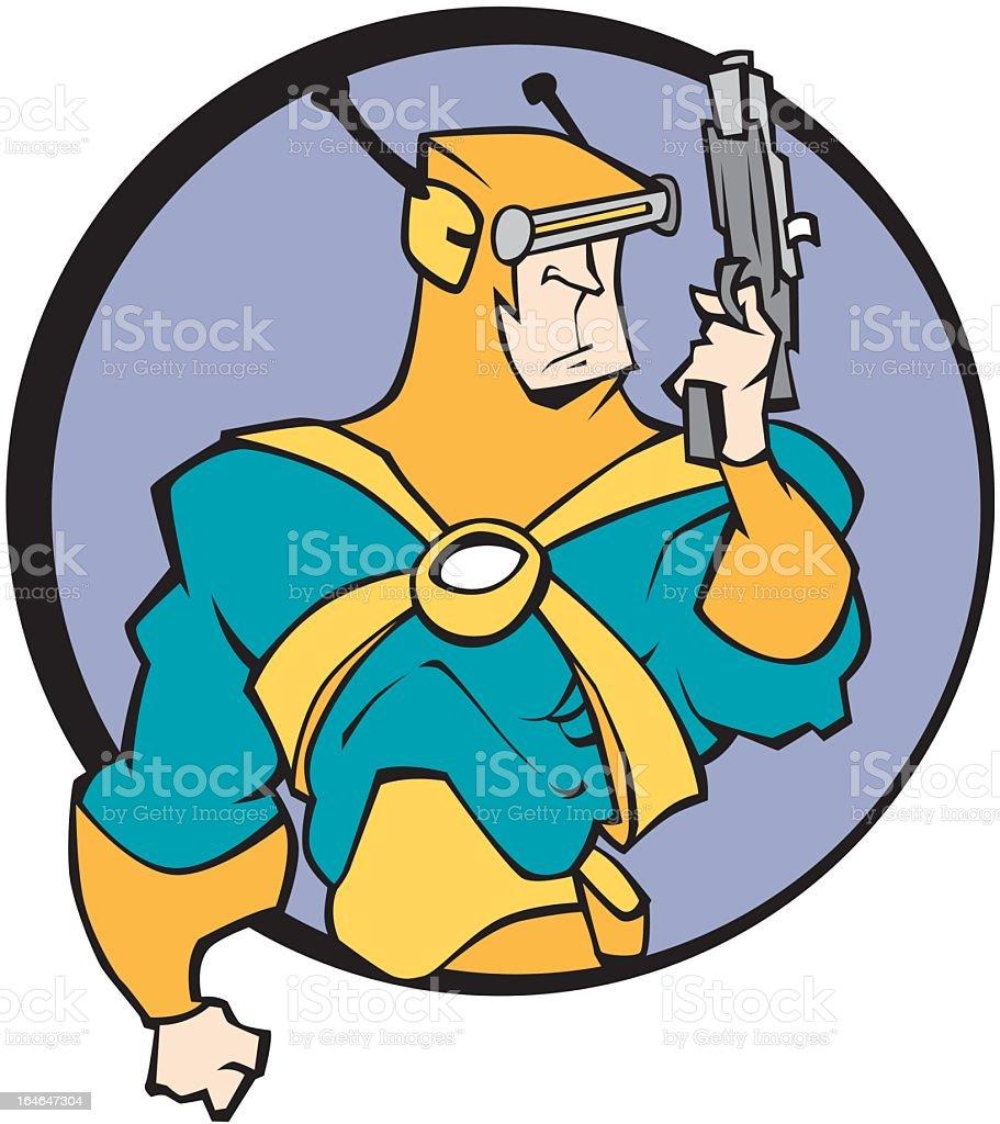 Man with Ray Gun royalty-free stock vector art