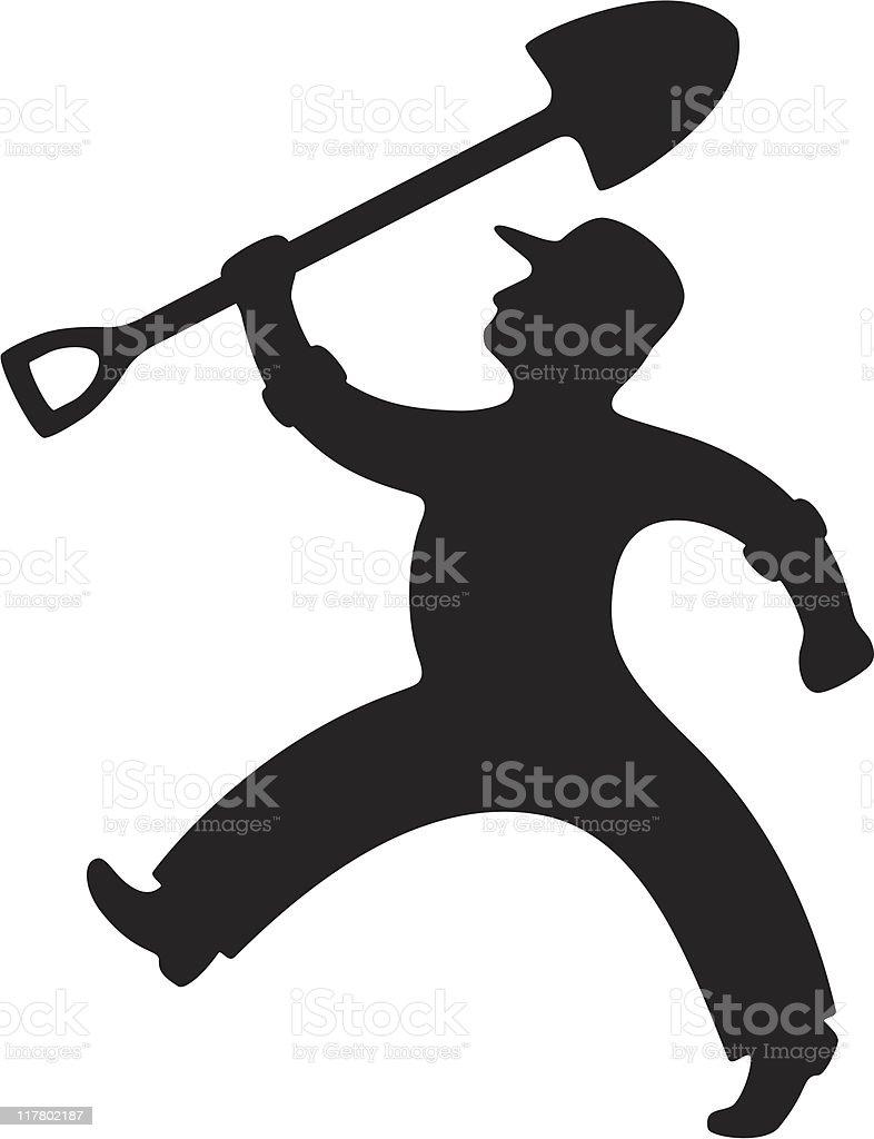 Man with Shovel royalty-free stock vector art