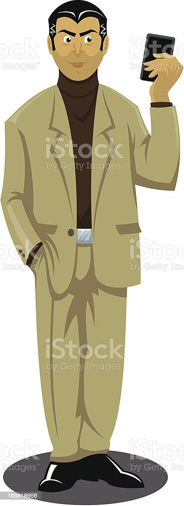 Man with smart phone royalty-free stock vector art