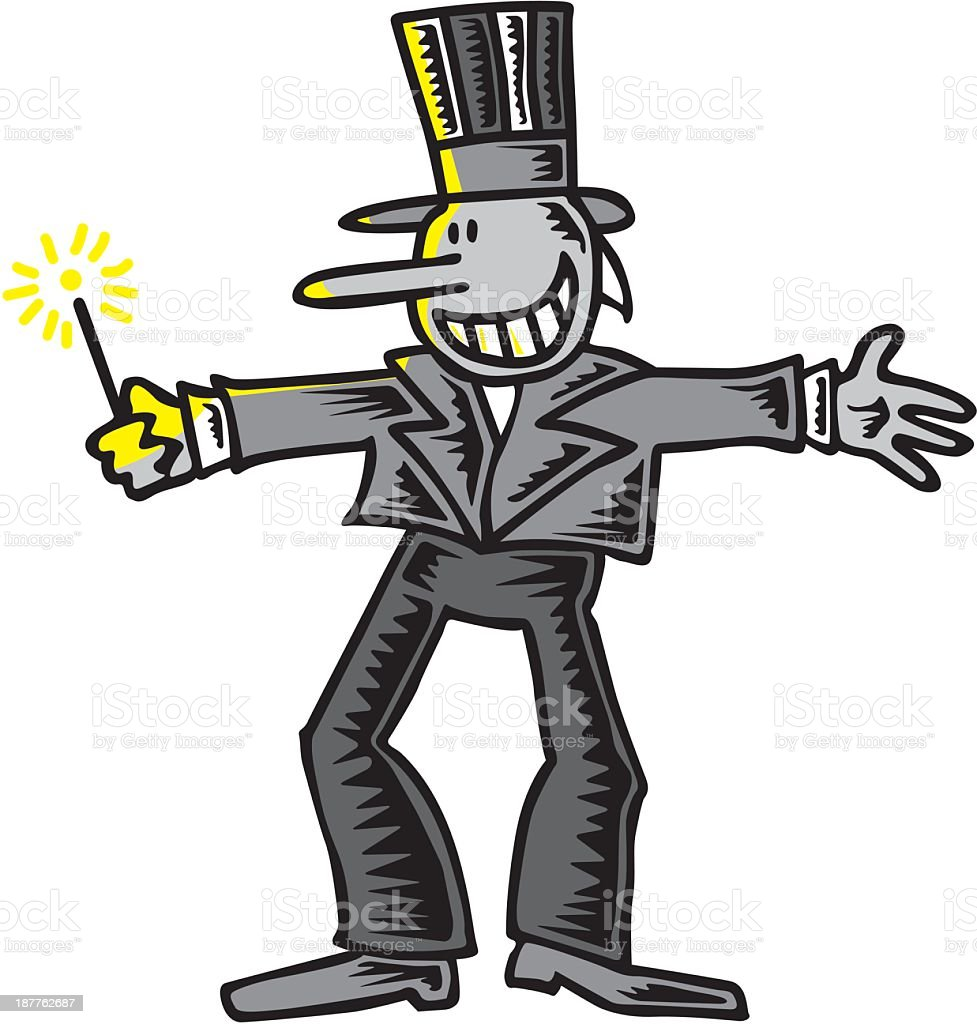 Man With Sparkler royalty-free stock vector art