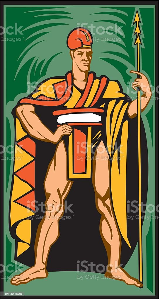 Man with Spear royalty-free stock vector art