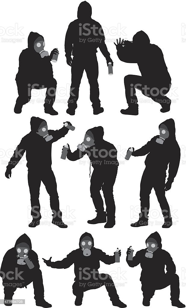 Man with spray can royalty-free stock vector art