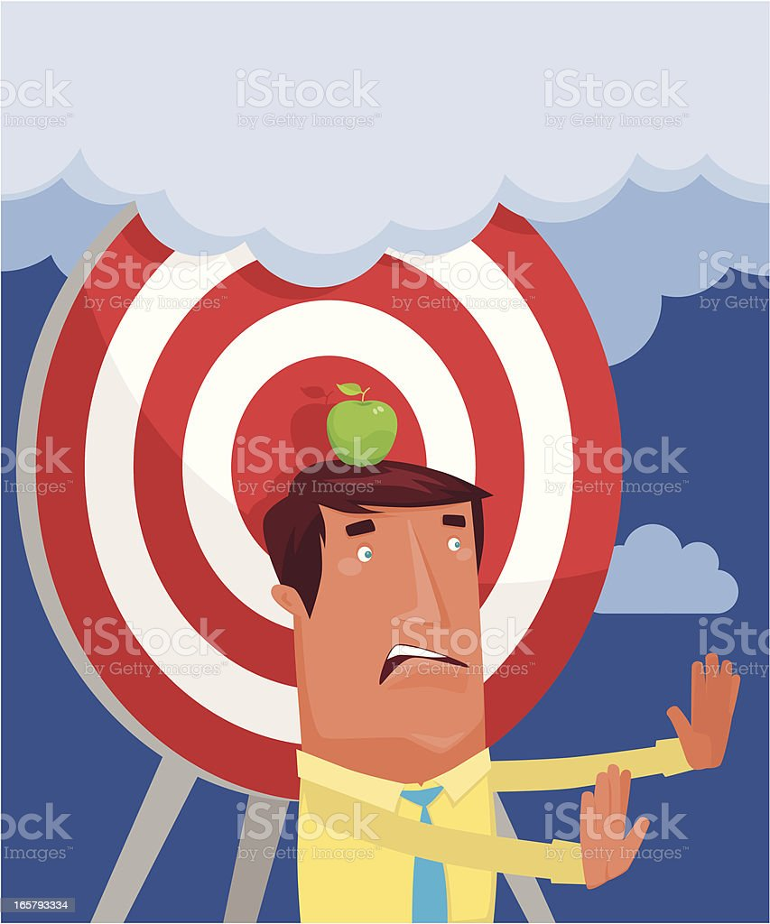 man with target royalty-free stock vector art
