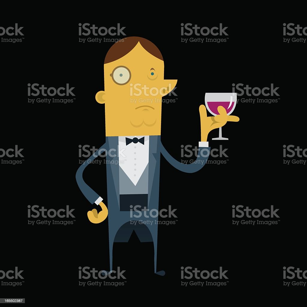 Man with Wine royalty-free stock vector art