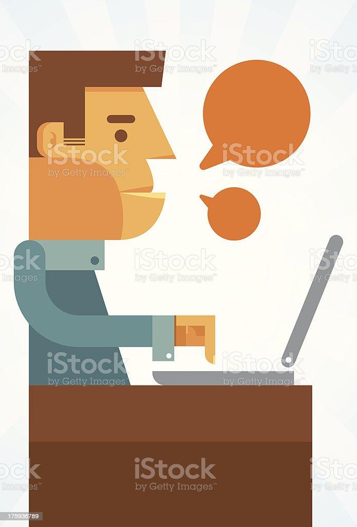 Man working royalty-free stock vector art