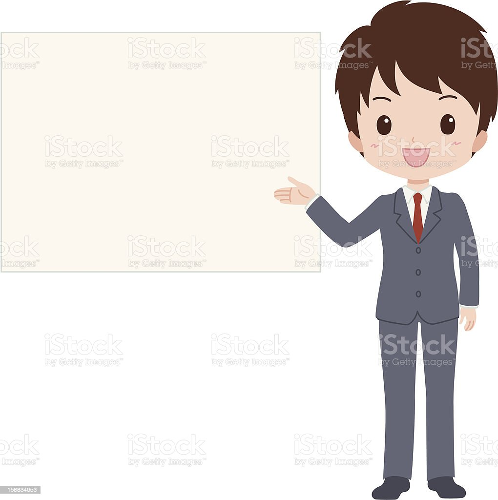 man_guide royalty-free stock vector art