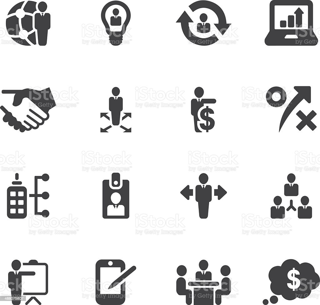 Management and Business Silhouette icons| EPS10 vector art illustration