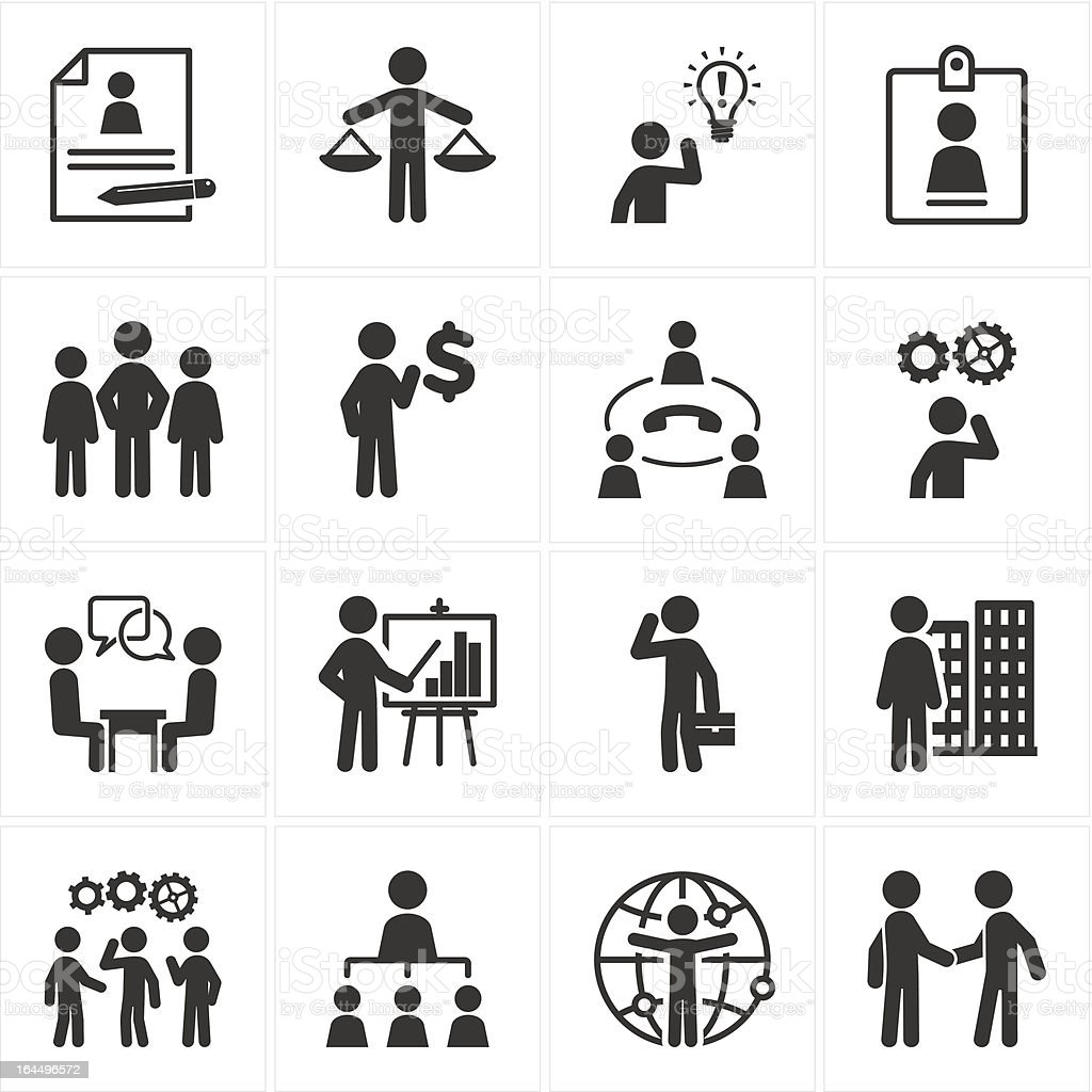 Management and Human Resource Icons royalty-free stock vector art