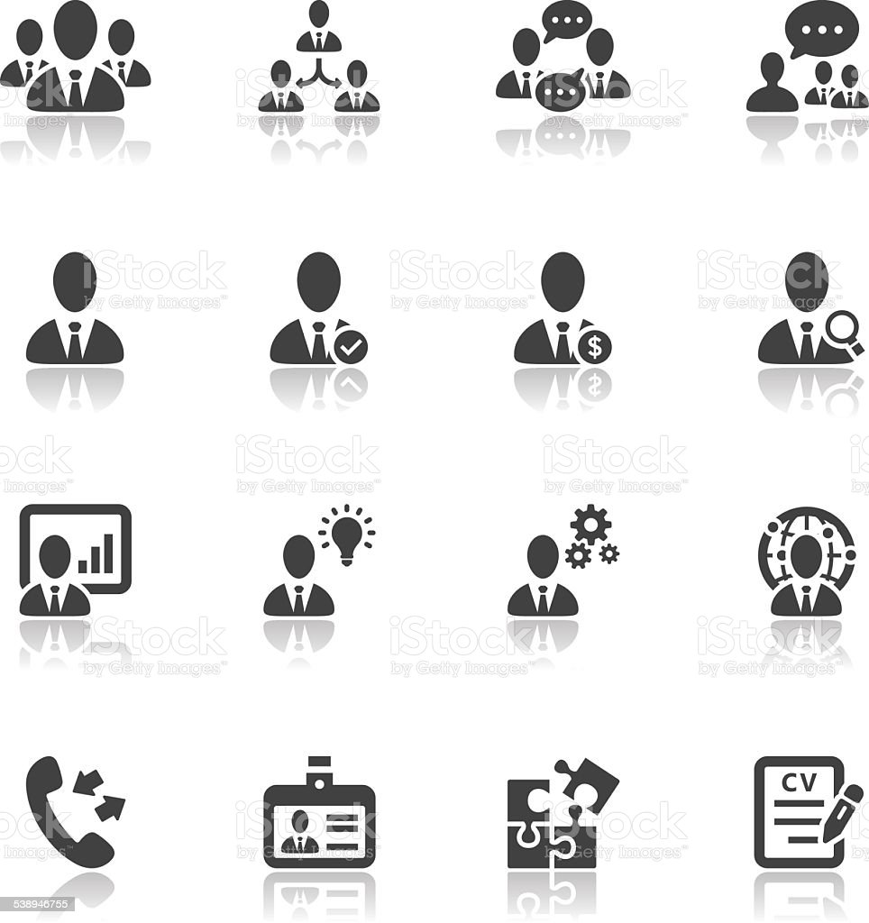 Management and Human Resource Icons vector art illustration