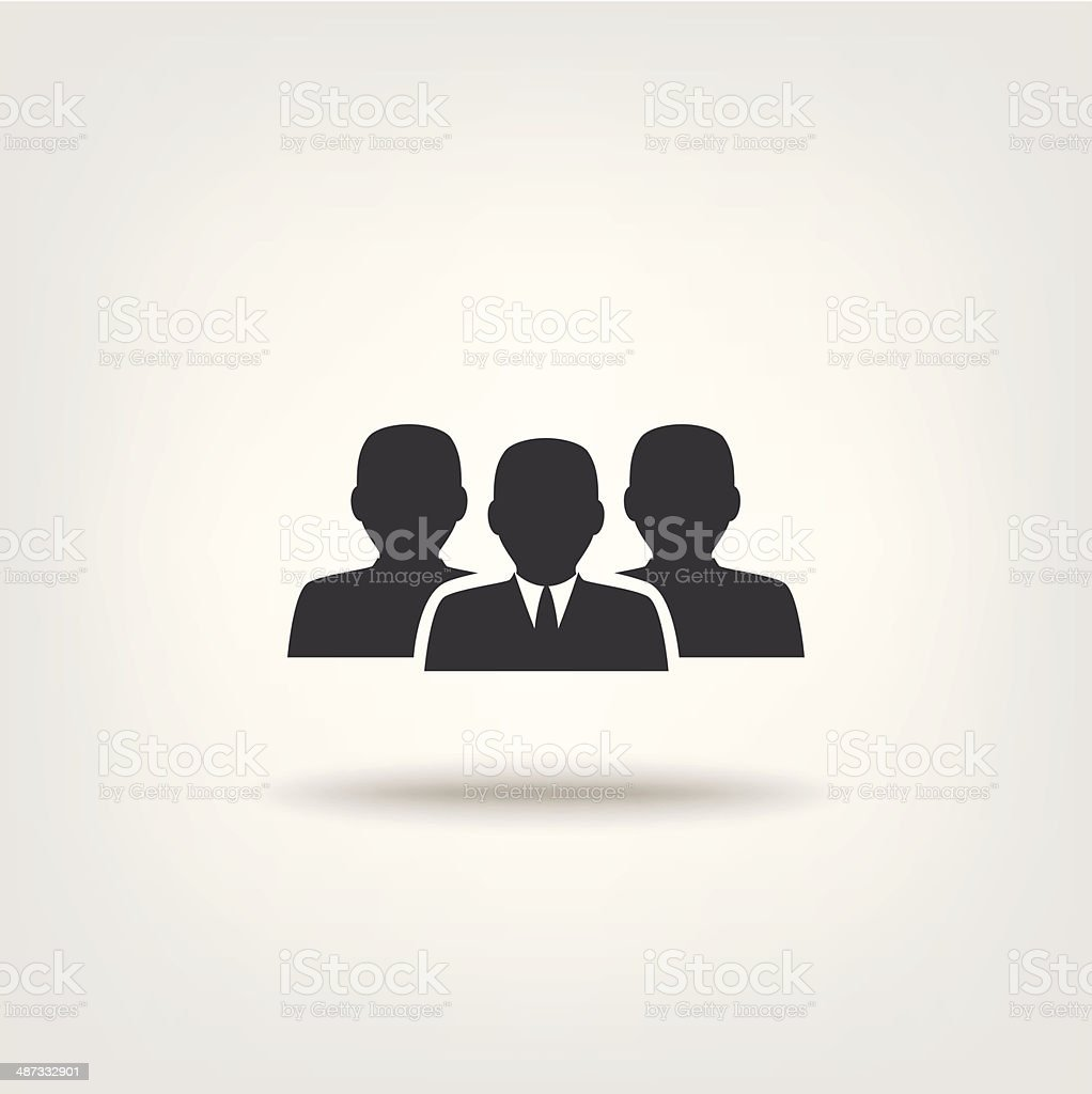 Management and team work royalty-free stock vector art
