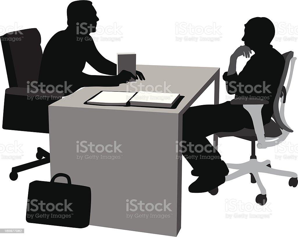 Management Decisions Vector Silhouette vector art illustration