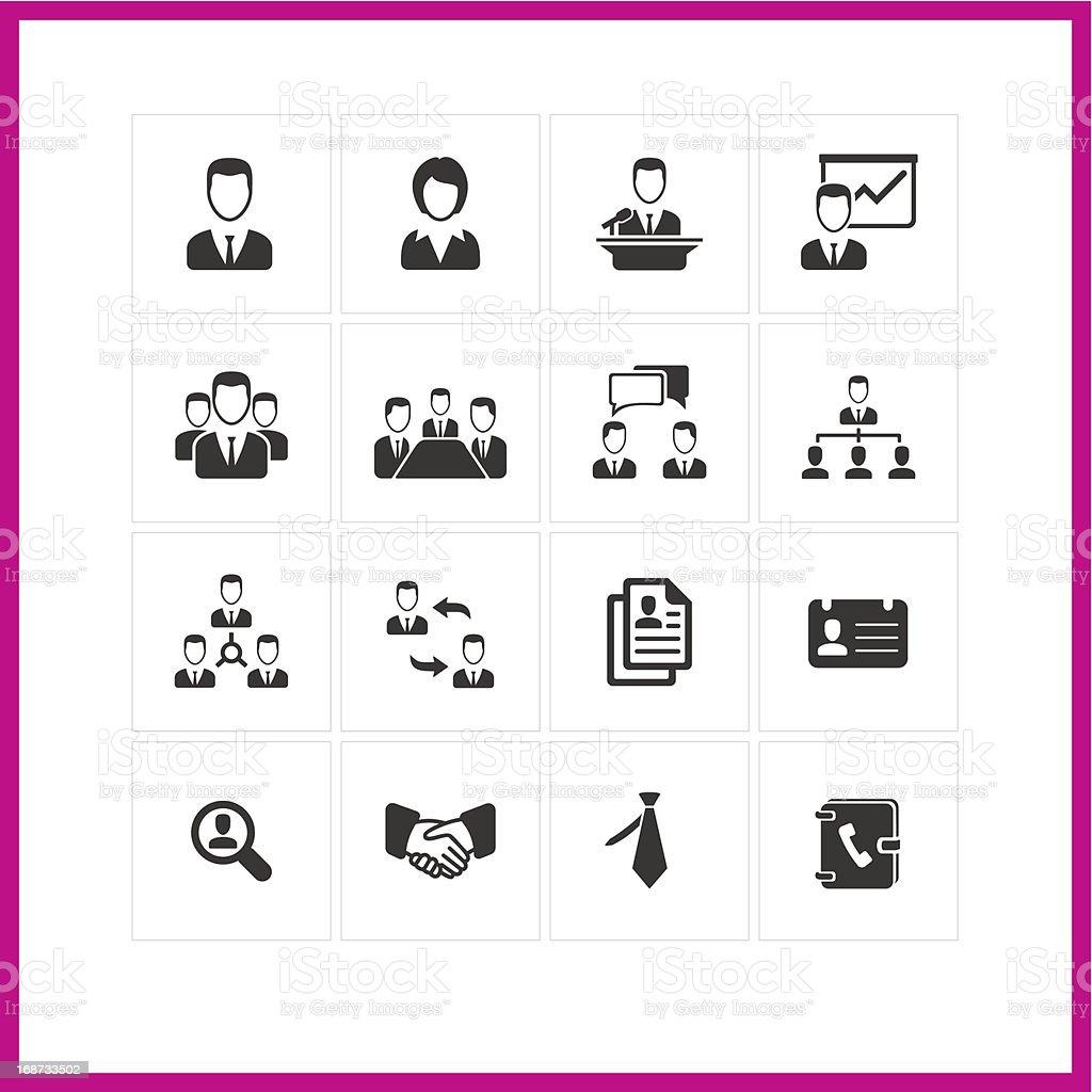 Management icon set. vector art illustration