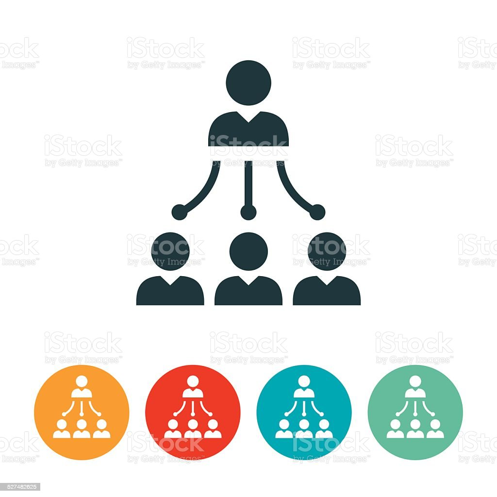 Management Icon vector art illustration