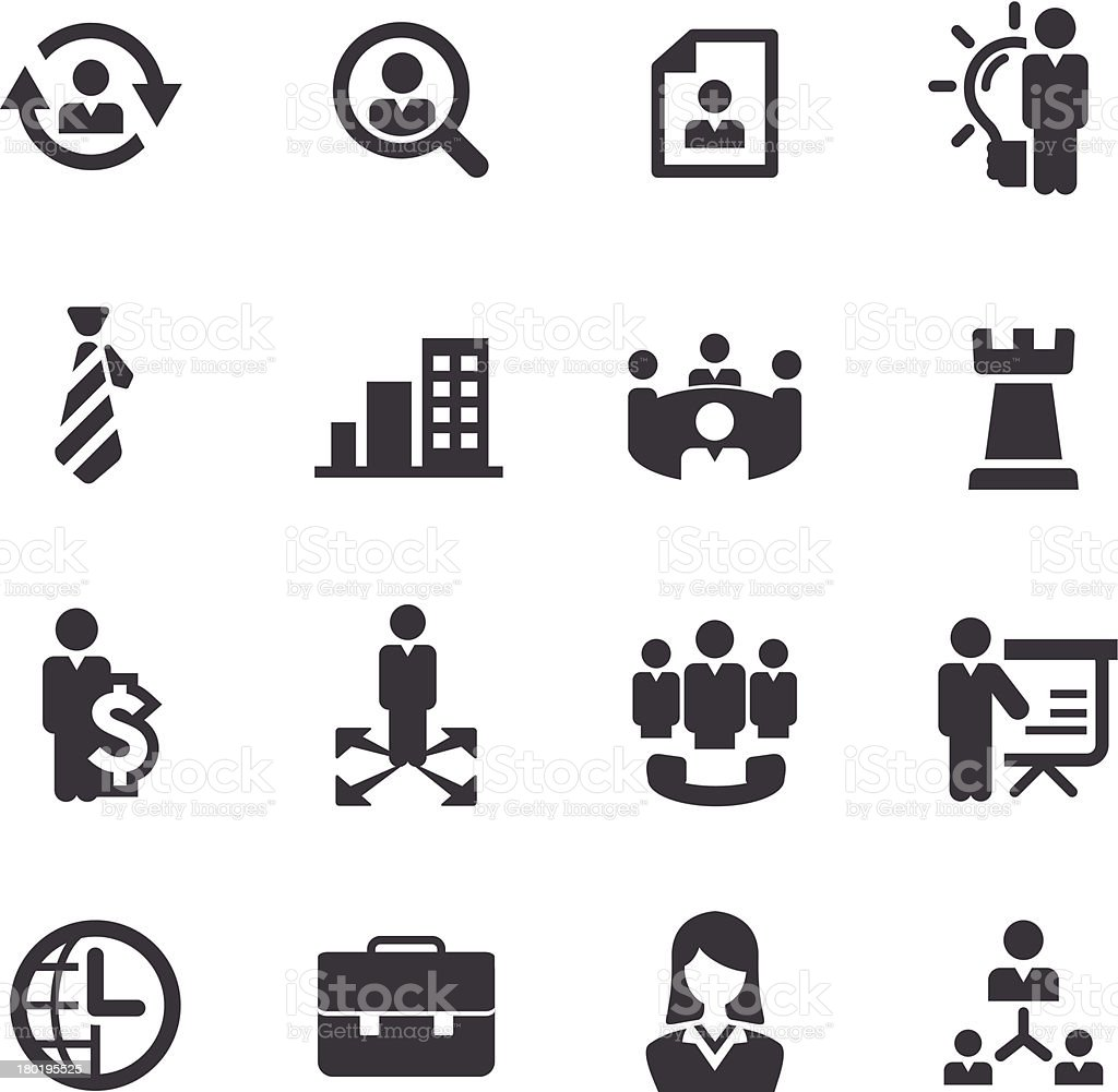 Management Icons - Acme Series royalty-free stock vector art