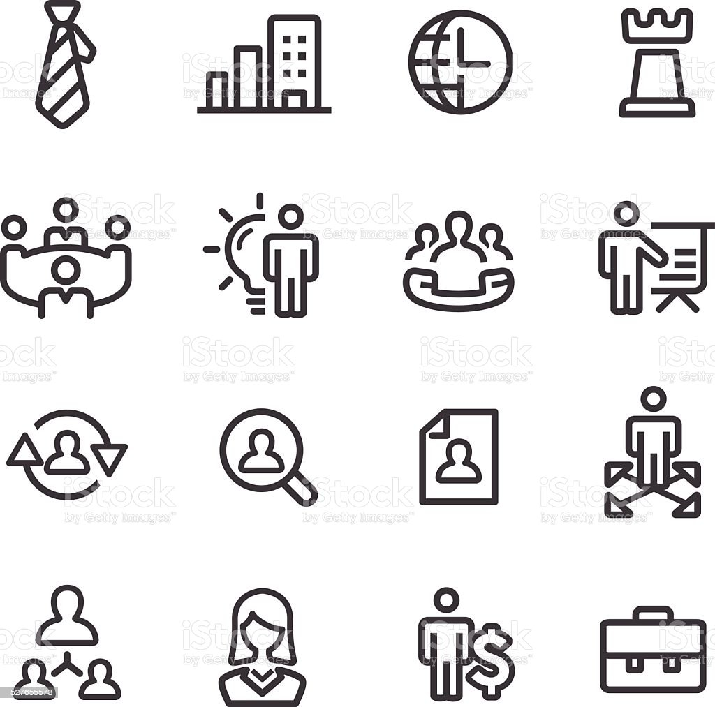 Management Icons - Line Series vector art illustration